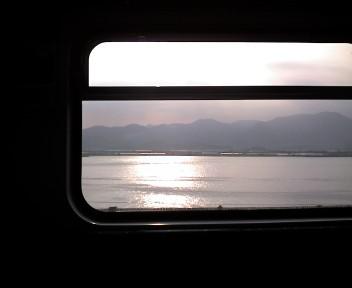 電車で移動